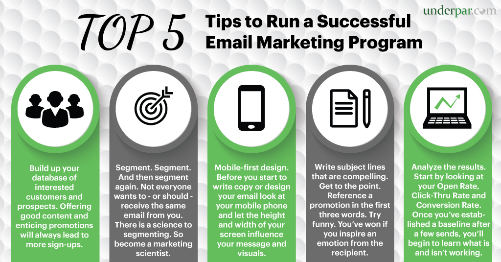 Top 5 Tips to Run a Successful Email Marketing Campaign for Golf Courses