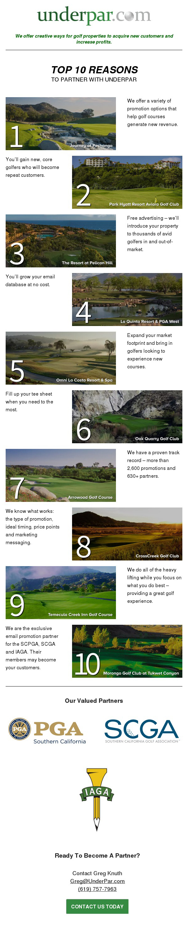 Top 10 Reasons To Partner With UnderPar